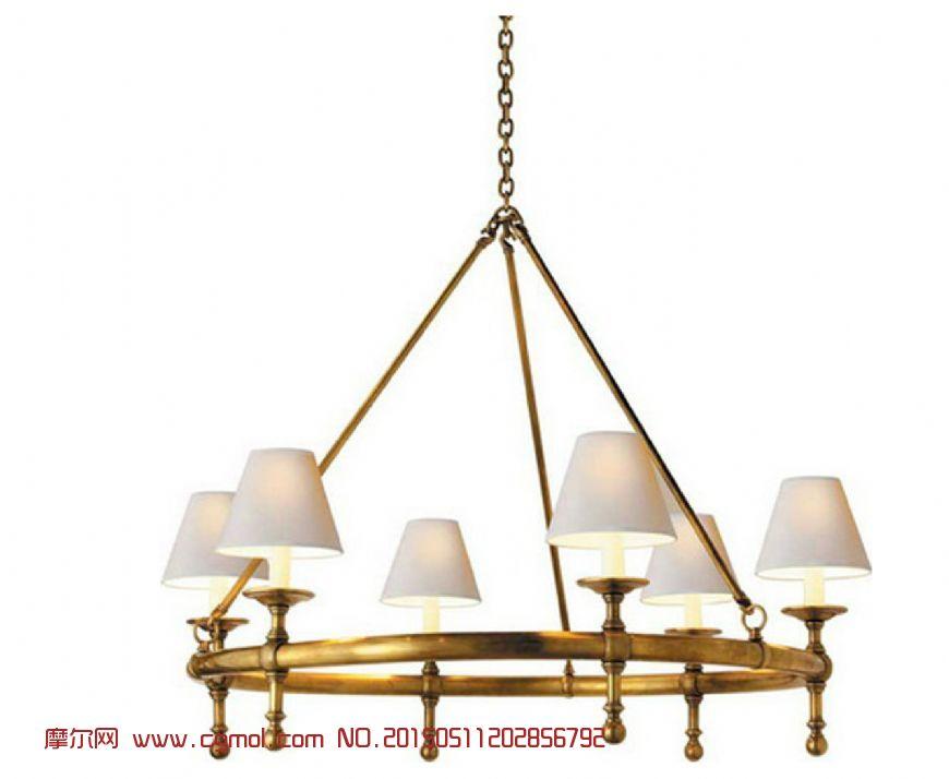 美式乡村吊灯2_家用电器_电子电器_3d模型,3d素材免费