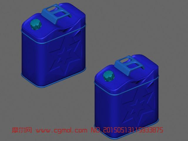 军用汽油桶3d模型_其他