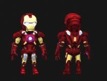 Q版钢铁侠3D模型