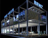 奔驰车展,汽车维修店3D模型