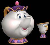 很Q的茶壶和茶杯3D模型