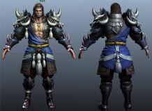 强悍的战士Maya模型,还有obj格式