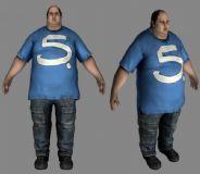 肥胖男人,大叔,胖子3D模型