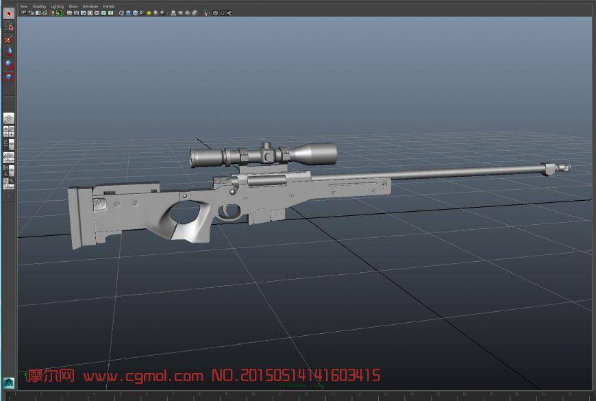 awp狙击枪maya模型