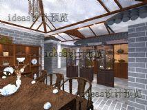 中式茶楼,茶馆效果图
