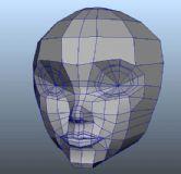 人物头像maya建模