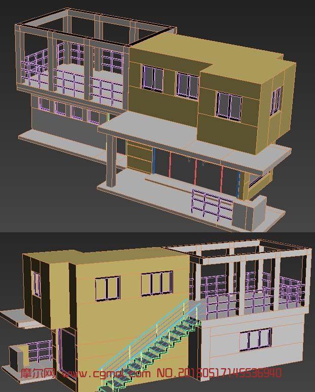 兩層別墅模型