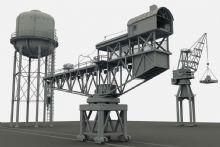 塔吊,水塔,工业场景maya模型