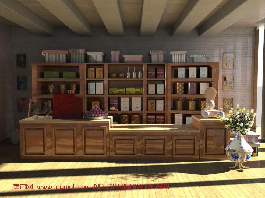 杂货铺场景maya模型