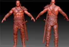 剑士,战士,骑士zbrush模型