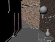 楼道场景maya模型