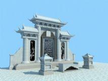 墓碑3D模型下载