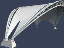 张拉膜3D模型