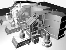 工厂车间设备建筑