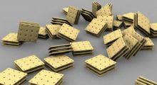 夹心饼干,苏打饼3D模型