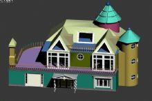 农村别墅小房子3D模型