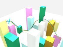 城市简单的模型 ,有飞机飞过的动画