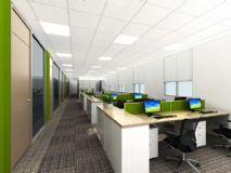 开放员工区3D场景模型下载,包括材质打包,灯光