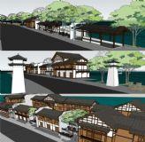 古典商业步行街su模型