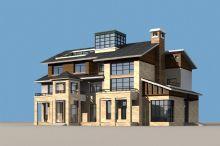 中式别墅模型MAX