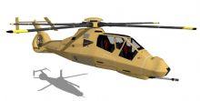 RAH66科曼奇直升机c4d模型(有obj格式)