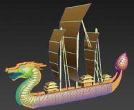 龙船,龙舟帆船3D模型