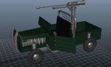 机车maya模型
