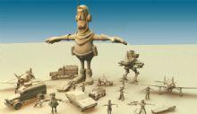 机器人,卡通人物和部分道具obj模型