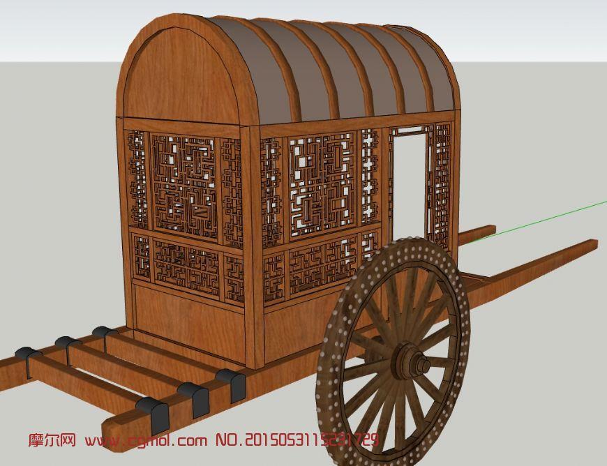 马车su模型,古代的交通工具
