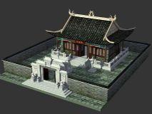 妈祖庙的3D模型,庙宇