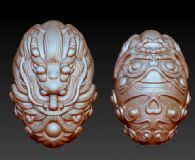 龙头-核雕3D模型下载