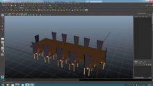 maya桌椅,餐桌模型下载