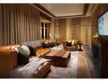 美式客厅沙发组合3D模型下载