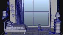 飞屋环游记中的女孩卧室maya模型