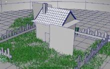 乡村屋子maya模型