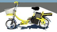 电动自行车maya模型