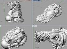 十二生肖之龙3D打印模型