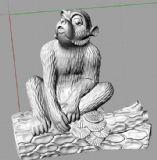 十二生肖之调皮猴3D打印模型
