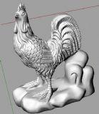 十二生肖之公鸡3D打印模型