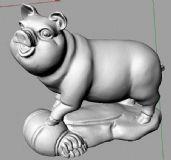 十二生肖之猪3D打印模型