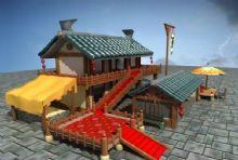 古代酒楼3D模型