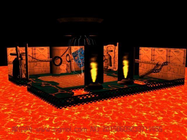 神秘奇幻的高端游戏场景3D模型