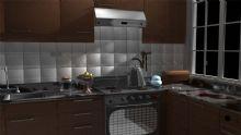 maya厨房模型下载