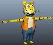 卡通动物  老虎maya模型