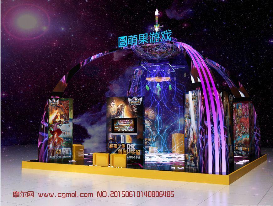 萌果游戏展厅max模型