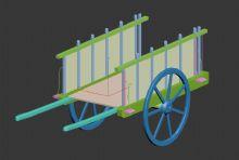 仿古板车3D模型
