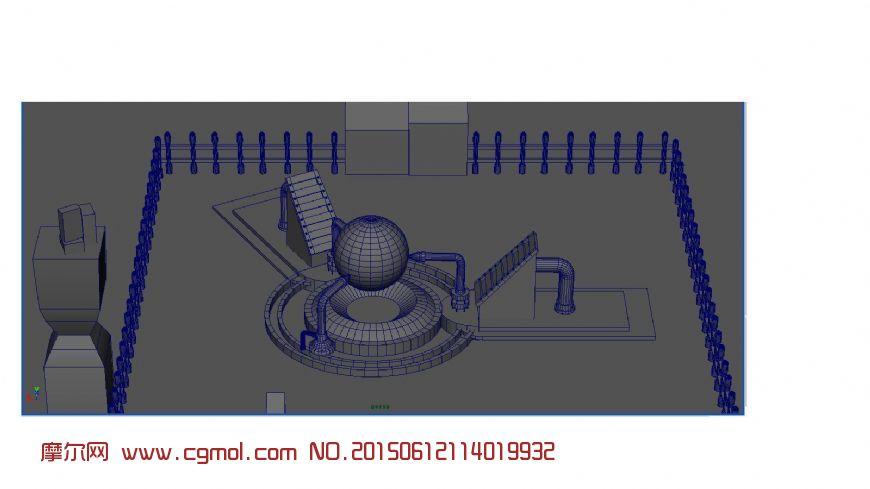 maya科幻场景模型