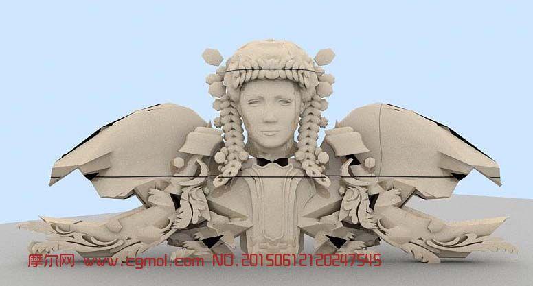 女神浮雕,雕塑模型