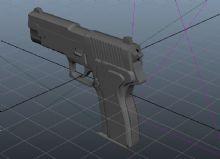 p226手枪maya模型