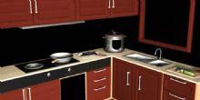 厨房,橱柜maya模型